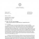 Bennett Gershman to Kenneth Thompson Letter 1